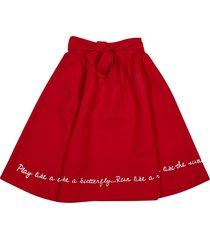 raspberryplum tie waist skirt