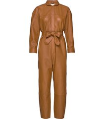 nixon leather jumpsuit jumpsuit brun notes du nord