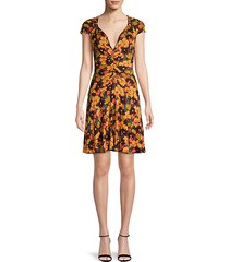 key to your heart floral mini dress