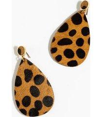 delisa spot fur earrings - brown