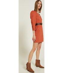 motivi vestito corto con cintura donna rosso