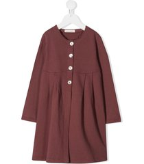 zhoe & tobiah buttoned cotton dress - pink