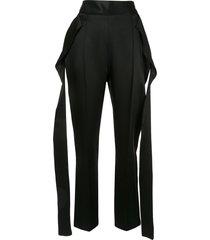 maticevski stride pencil trousers - black