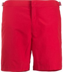 orlebar brown bulldog mid-length swim shorts - red