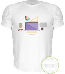 camiseta manga curta nerderia designer branco - branco - masculino - dafiti