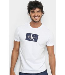 camiseta calvin klein re issue retangulo masculina