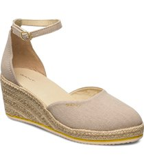 wedgeville plateau sandale sandalette med klack espadrilles beige gant