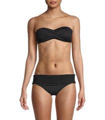 la blanca women's island bandeau bikini top - black - size 4