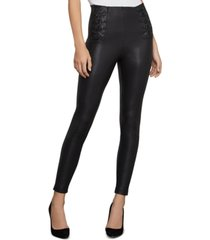 bcbgmaxazria lace-up faux-leather leggings