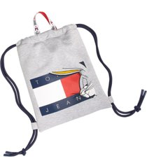 tommy hilfiger men's space jam: a new legacy x tommy jeans tommy jeans bugs bunny flag drawstring backpack