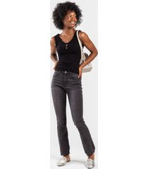 vicky high rise flare jeans - black
