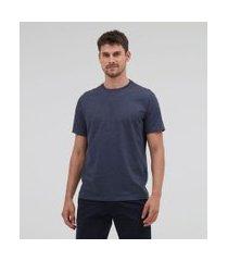 camiseta básica comfort fit em algodão peruano   marfinno   azul   p