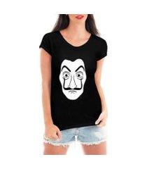 blusa t-shirt camiseta criativa urbana mascara dali