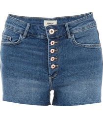 womens hush button denim shorts