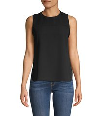 calvin klein women's crewneck sleeveless top - black - size m