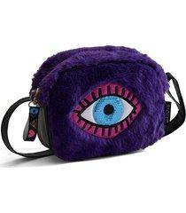 cartera violeta back up ojo