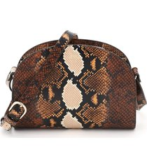 a.p.c. demi lune python print leather crossbody bag