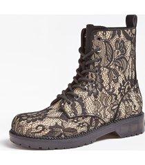 buty w stylu militarnym z koronkowymi wstawkami model tezana