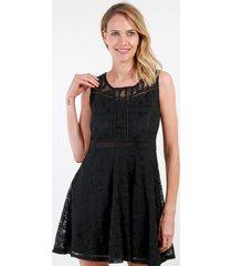 vestido de encaje sweet negro night concept