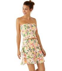 falda flores con fruncido y volantes multicolor women secret 7455461 90s