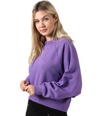 only womens stella batwing crew sweatshirt size 12-14 in purple