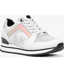 mk sneaker billie in materiale misto - bianco ottico cangiante (bianco) - michael kors