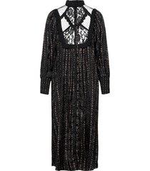 jacquard lace shift dress maxiklänning festklänning svart by ti mo