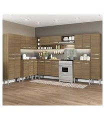 cozinha completa de canto reto madesa emillybigcom armário e balcão 21 portas 1 gaveta rustic rustic