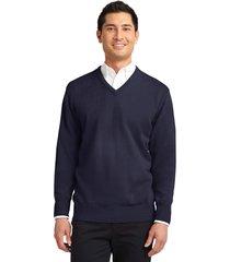 port authority sw300 men's v-neck sweater - navy