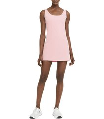 nike bliss luxe training dress, size x-small in pink glaze/clear at nordstrom