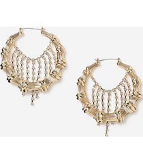 *bamboo hoop earrings - crystal