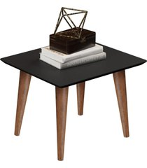 conjunto mesa lateral e mesa de centro maju - preto fosco - rpm móveis