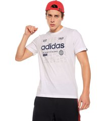 camiseta blanco-azul adidas performance m adi int t