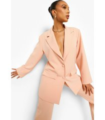 oversized baggy blazer, peach