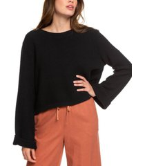 roxy juniors' bell-sleeve sweater