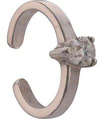 anita ko 18kt white gold pear diamond ear cuff - silver