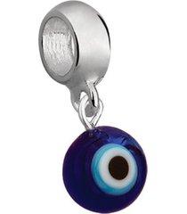 berloque joia em casa olho grego redondo prata