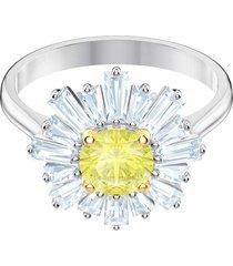 anillo swarovski baño de rodio  mujer   5482701