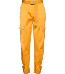 skunk polyester 19-04 pantalon met rechte pijpen geel holzweiler
