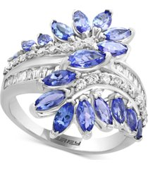 effy tanzanite (2-1/1- ct. t.w.) & diamond (3/8 ct. t.w.) ring in 14k white gold