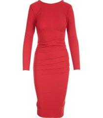 elisabetta franchi longuette draped 3/4s dress