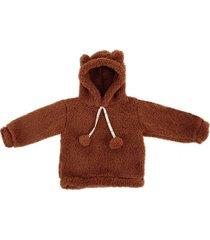 buzo marrón shimpumpam  teddy
