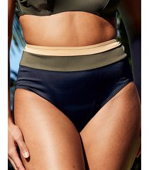 colourblock high waist tummy control bikini brief