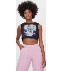mouwloos cropped t-shirt