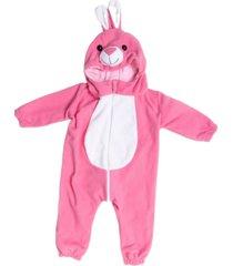 macacã£o pijama coelho rosa. - rosa - dafiti