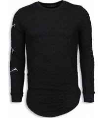 sweater justing 3d numbered pocket - long fit -