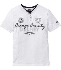 t-shirt med farfarskrage, 2-i-1-look