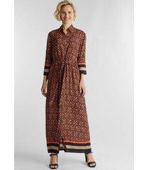 vestido maxi estampado camel esprit