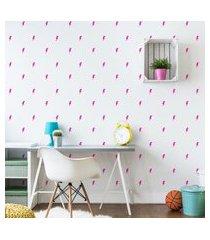 adesivos de parede raios em rosa pink 134un cobre 5m²