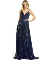 mac duggal sleeveless embellished gown